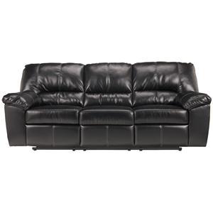 Signature Design by Ashley Fort Logan DuraBlend® - Black Reclining Sofa