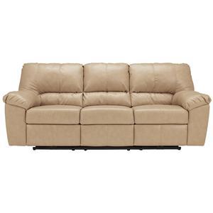 Signature Design by Ashley Fort Logan DuraBlend® - Natural Power Reclining Sofa