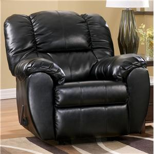 Signature Design by Ashley Dylan DuraBlend - Onyx Rocker Recliner