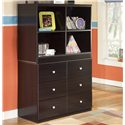 Signature Design by Ashley Embrace 6 Drawer Chest and Open Bookcase - Item Number: B239-17+19