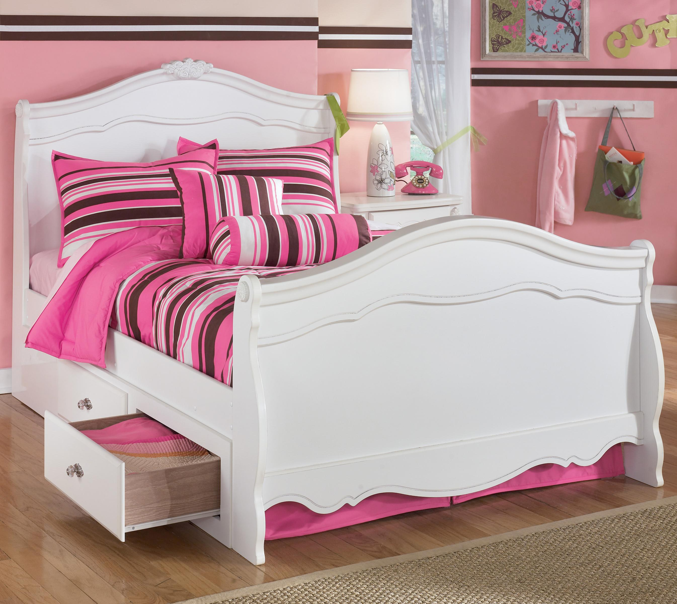 Full sleigh bed with under bed storage by signature design - Bed with storage underneath ...