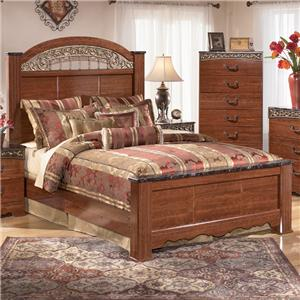 Signature Design by Ashley Fairbrooks Estate Queen Poster Bed