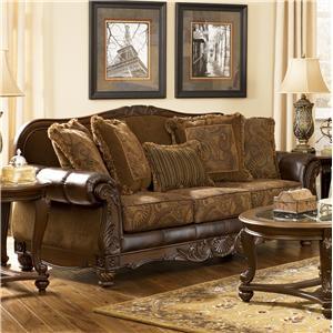 Signature Design by Ashley Fresco DuraBlend - Antique Sofa