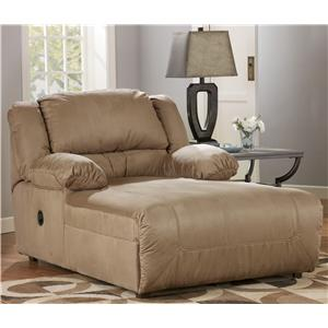Signature Design by Ashley Furniture Hogan - Mocha Pressback Chaise