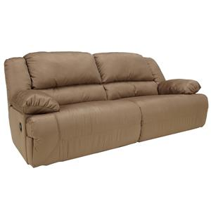 Signature Design by Ashley Furniture Hogan - Mocha Reclining Sofa