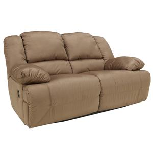 Signature Design by Ashley Furniture Hogan - Mocha Reclining Loveseat