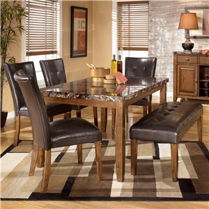 Signature Design by Ashley Lacey 6-Piece Dining Table, Chairs, & Bench Set