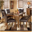 Signature Design by Ashley Furniture Lacey 6-Piece Dining Table, Chairs, & Bench Set - Item Number: D328-25+4x01+00