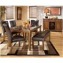 Signature Design by Ashley Furniture Lacey 6-Piece Dining Table with Side Chairs & Bench Set - Shown with Server