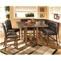 Signature Design by Ashley Furniture Lacey 6-Piece Dining Pub Set - Item Number: D328-33+2x323+2x124+320
