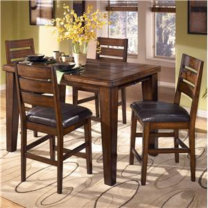Signature Design by Ashley Furniture Larchmont Pub Table and 4 Bar Stools