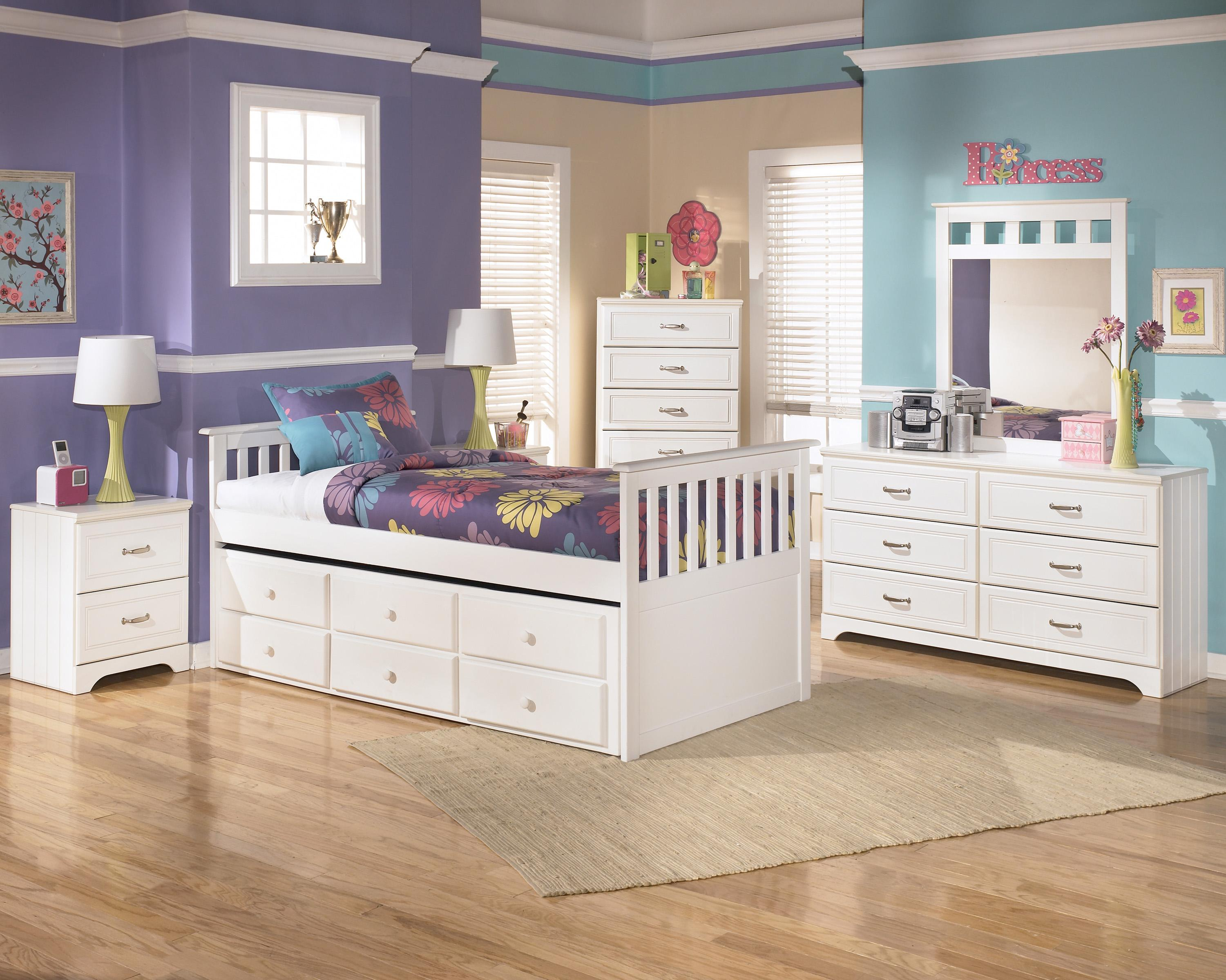 Twin Bed with Trundle Drawer Box by Signature Design by Ashley : Wolf and Gardiner Wolf Furniture