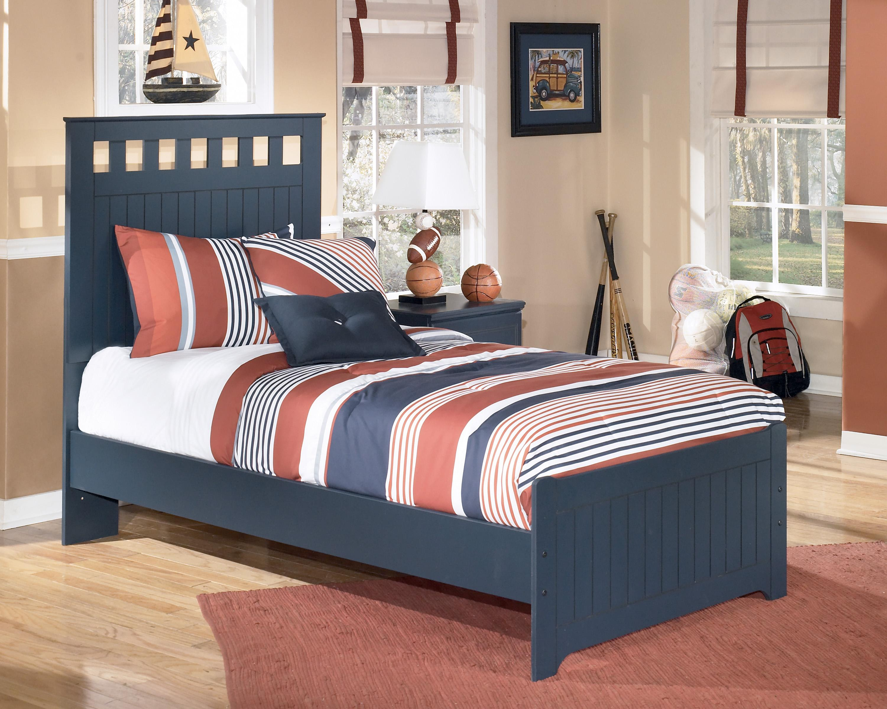 Twin Bed: Includes headboard, footboard, and rails