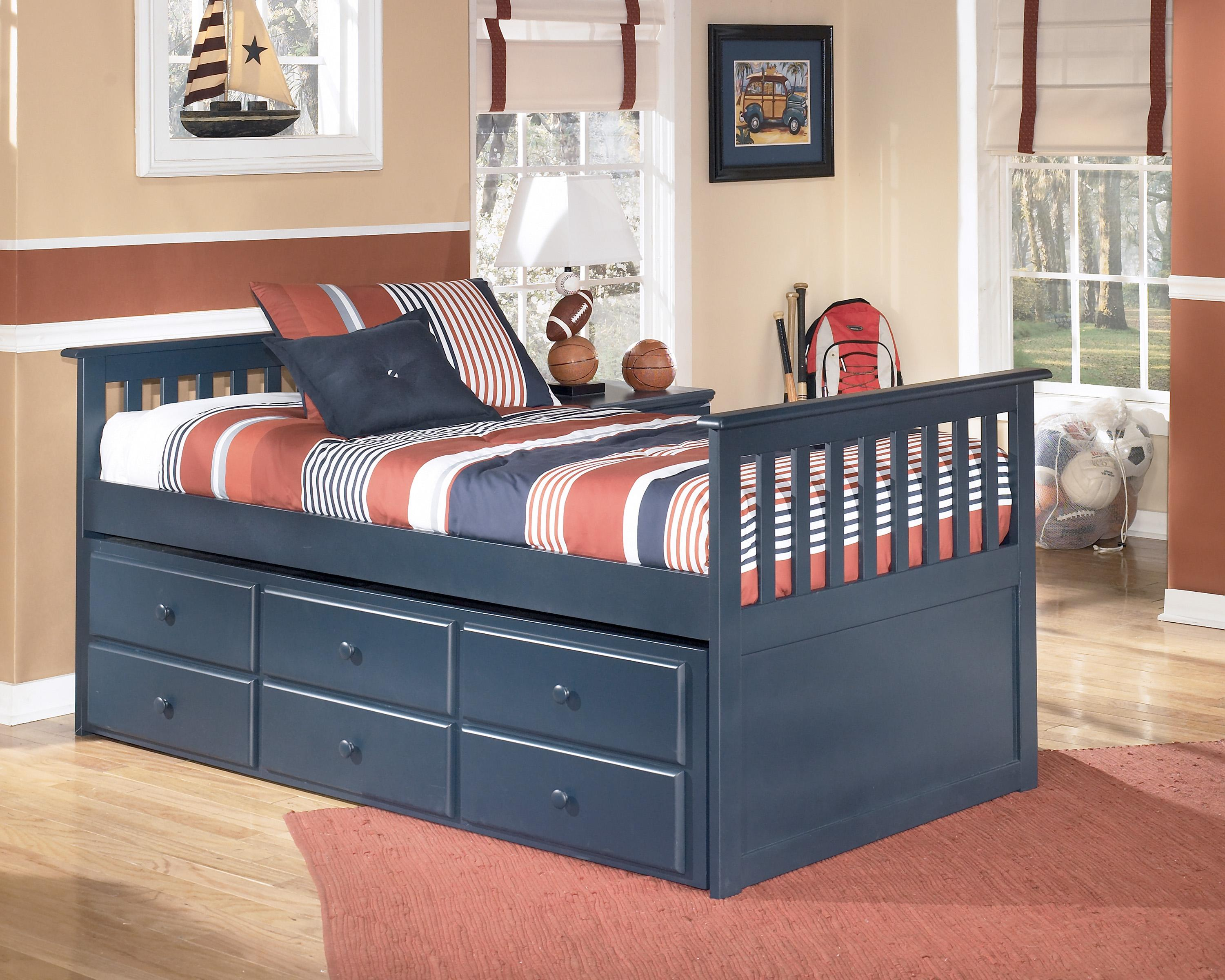 twin bed black set piece shay in ashley poster bedroom