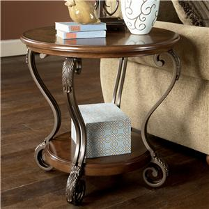 Signature Design by Ashley Furniture Nestor Round End Table