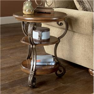 Signature Design by Ashley Furniture Nestor Round Chairside End Table