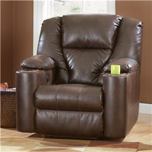 Signature Design by Ashley Paramount DuraBlend® - Brindle Power Bonded Leather Recliner