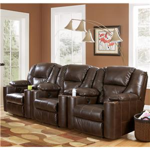 3 Piece Reclining Home Theater Group With Cup Holders