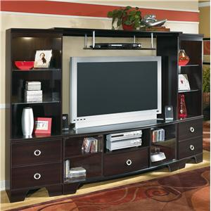 Entertainment Wall with Pier Cabinet