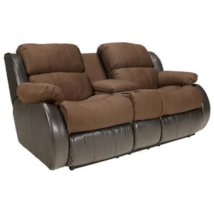 Signature Design by Ashley Furniture Presley - Espresso Upholstered Reclining Love Seat