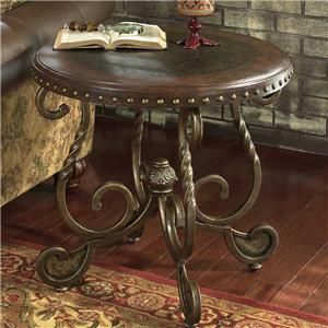 Signature Design by Ashley Furniture Rafferty  Round End Table