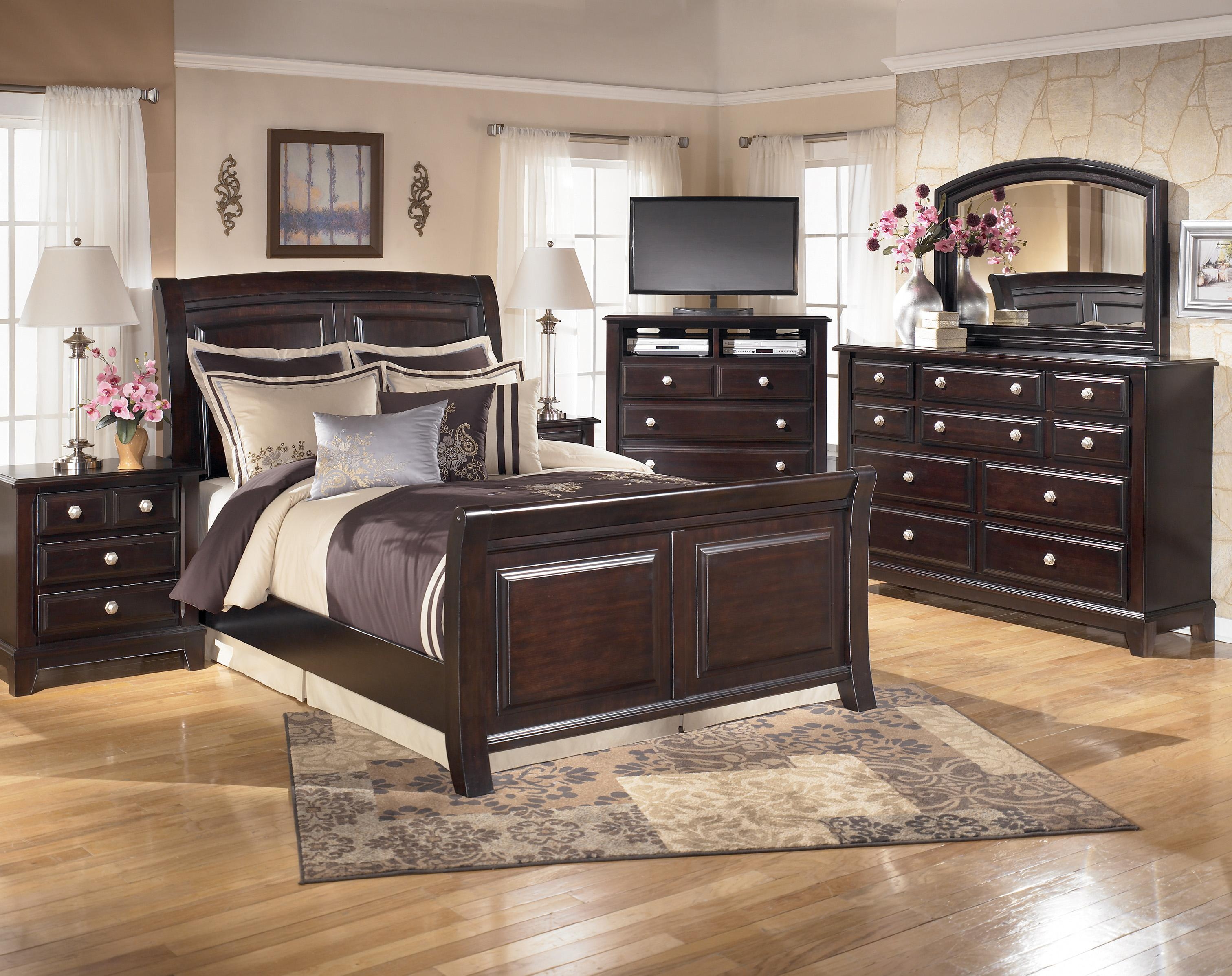 California King Sleigh Bed By Signature Design By Ashley Wolf And Gardiner Wolf Furniture