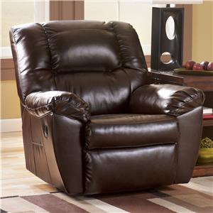 Signature Design by Ashley Furniture Rouge DuraBlend - Mahogany Recliner