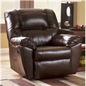 Signature Design by Ashley Furniture Rouge DuraBlend - Mahogany Power Recliner - Item Number: 5300098