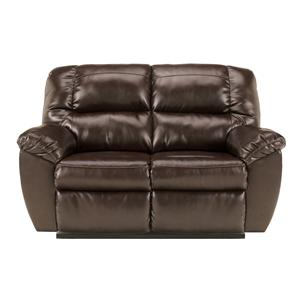 Signature Design by Ashley Furniture Rouge DuraBlend - Mahogany Reclining Loveseat