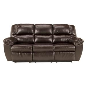Signature Design by Ashley Furniture Rouge DuraBlend - Mahogany Reclining Sofa