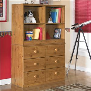 Signature Design by Ashley Stages 6 Drawer Chest and Open Bookcase