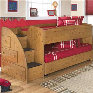 Signature Design by Ashley Furniture Stages Twin Loft Bed with Caster Bed