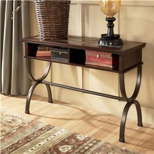 Sofa/Console Table with Slate Inlay and Metal Base