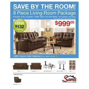 Signature Design by Ashley Furniture Mercer - Cafe Mercer Cafe Living Room Collection