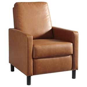 Contemporary Press-Back High-Leg Recliner