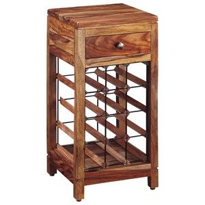 Sheesham Solid Wood Wine Cabinet