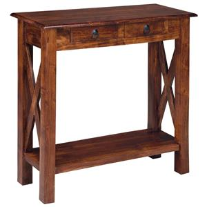 Mango Wood Console Sofa Table with Storage