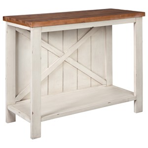 Farmhouse Console Sofa Table with Two-Tone Finish