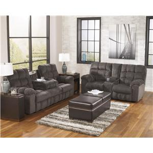 Ashley (Signature Design) Acieona - Slate Reclining Living Room Group