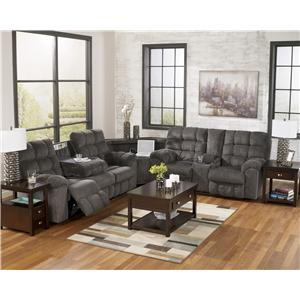Signature Design by Ashley Acieona - Slate Reclining Sectional with Right Side Loveseat