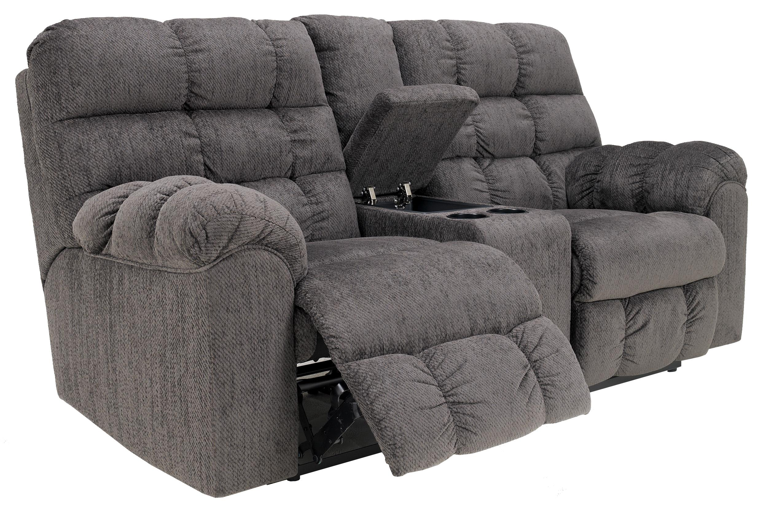 Double reclining loveseat with console and cup holders by signature design by ashley wolf and Loveseat with cup holders