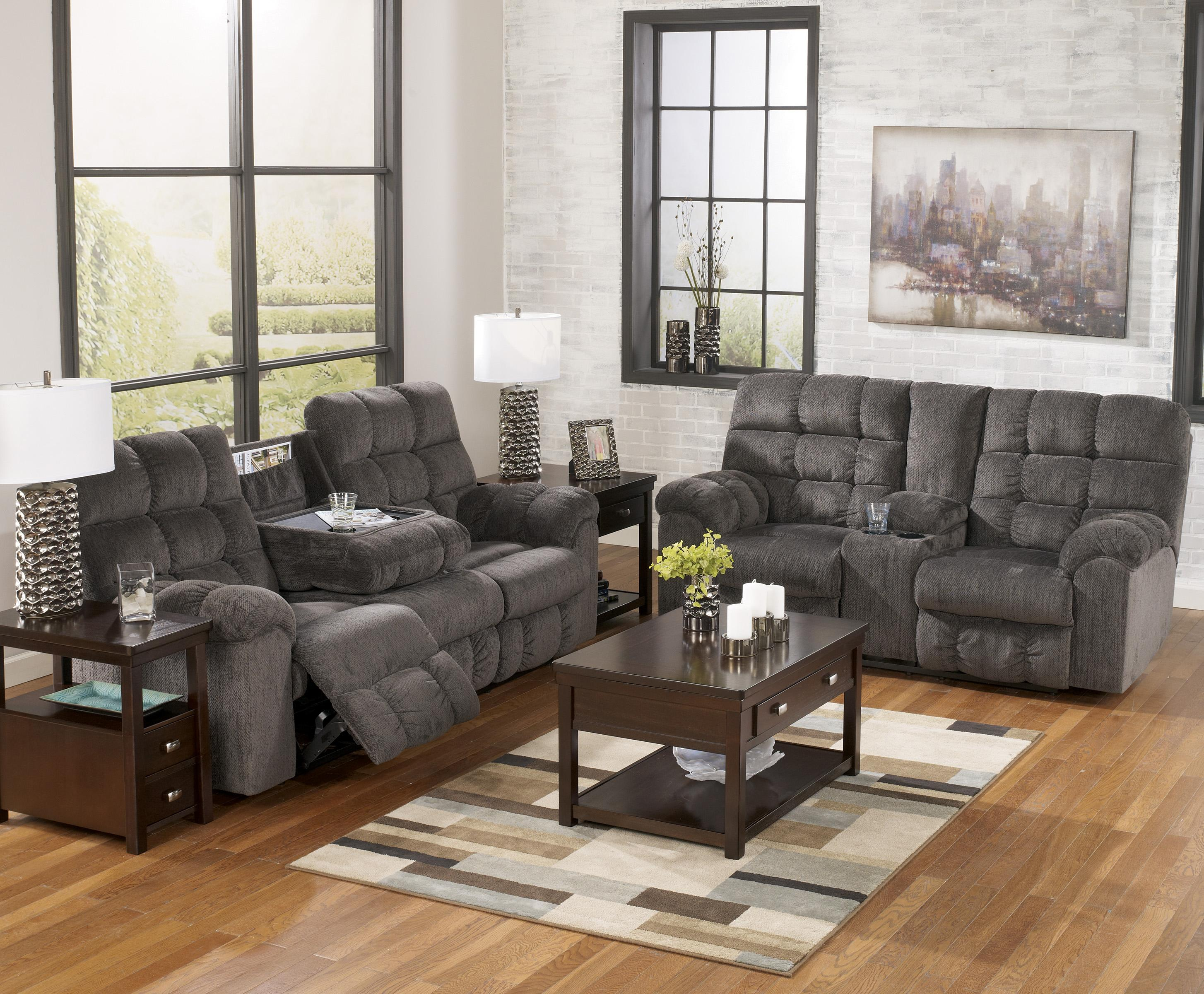 Double Reclining Loveseat With Console And Cup Holders By Signature Design By Ashley Wolf And