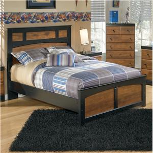 Two-Tone Finish Full Platform Bed