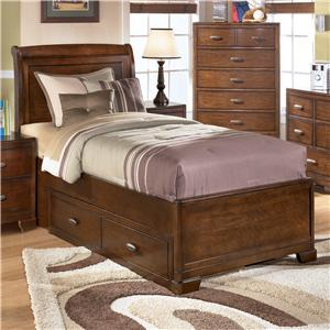 Signature Design by Ashley Alea Twin Bed with 2 Storage Drawers