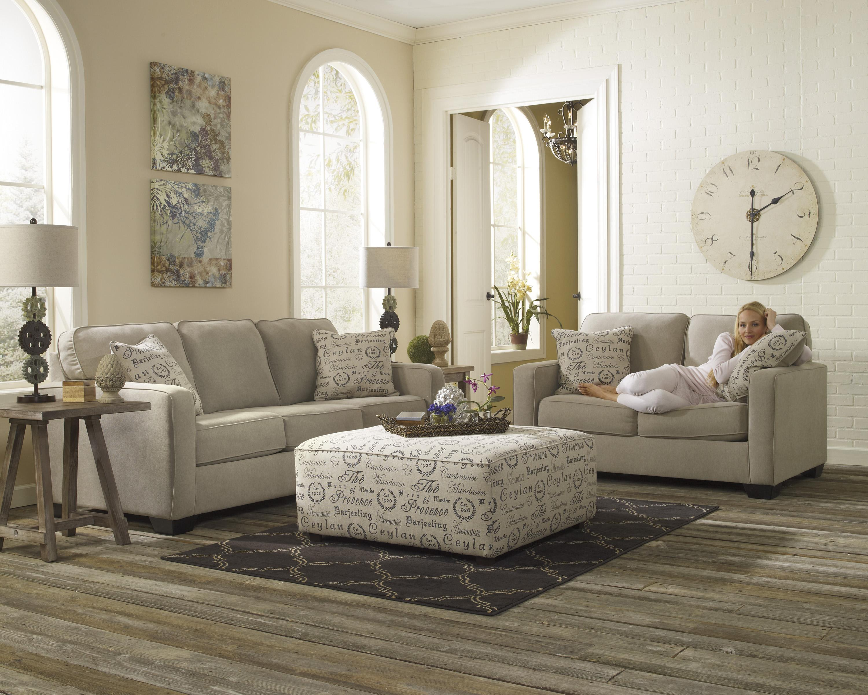 Oversized Accent Ottoman w Exposed Block Legs by Signature Design