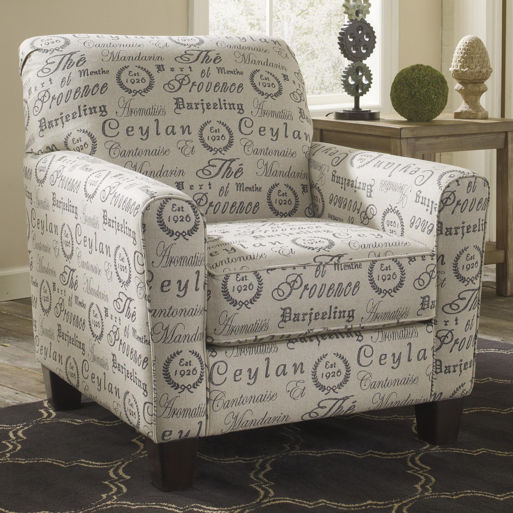 Track Arm Accent Chair