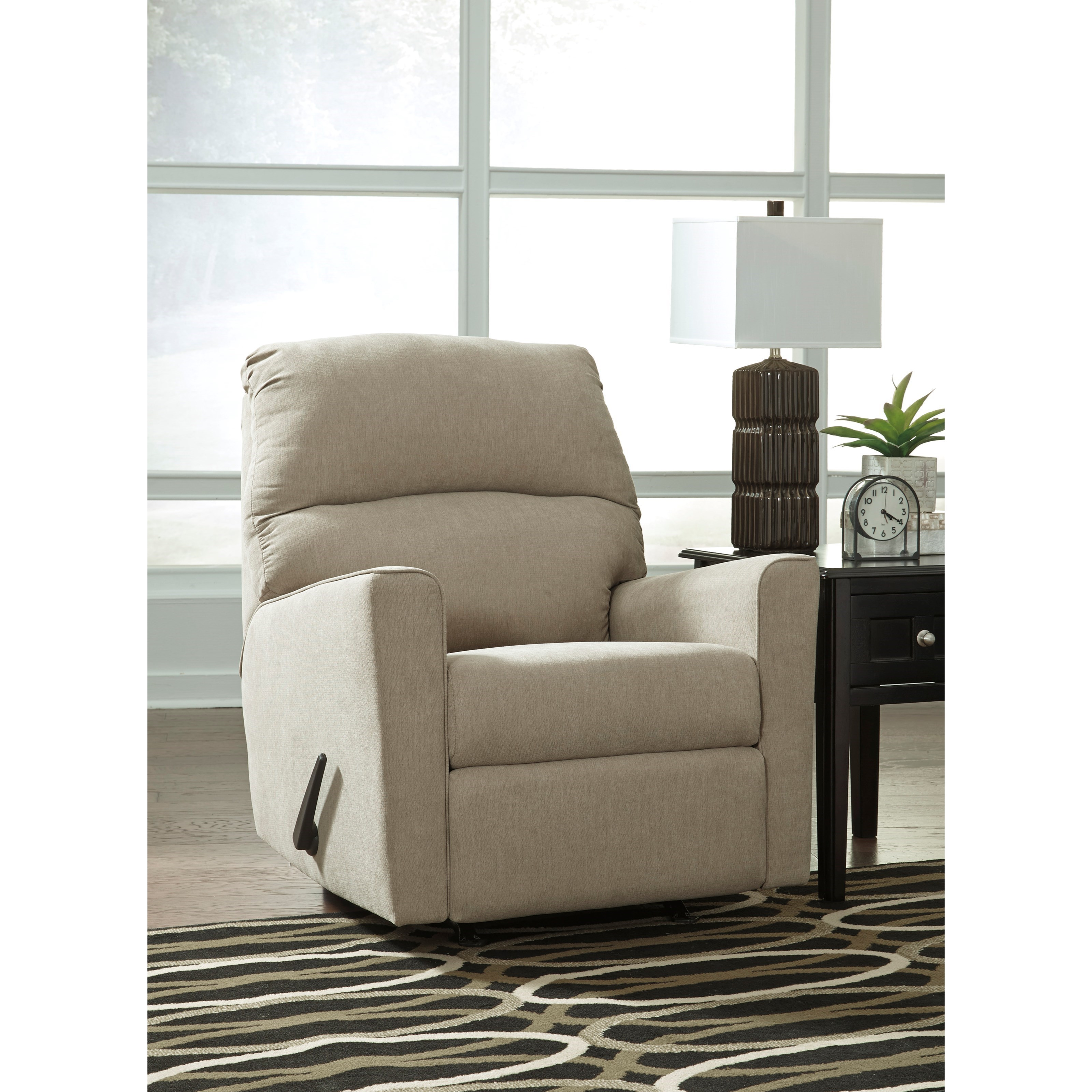Contemporary Rocker Recliner By Signature Design By Ashley