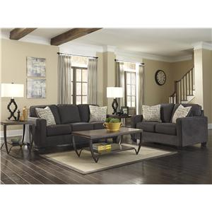 Ashley (Signature Design) Alenya - Charcoal Stationary Living Room Group