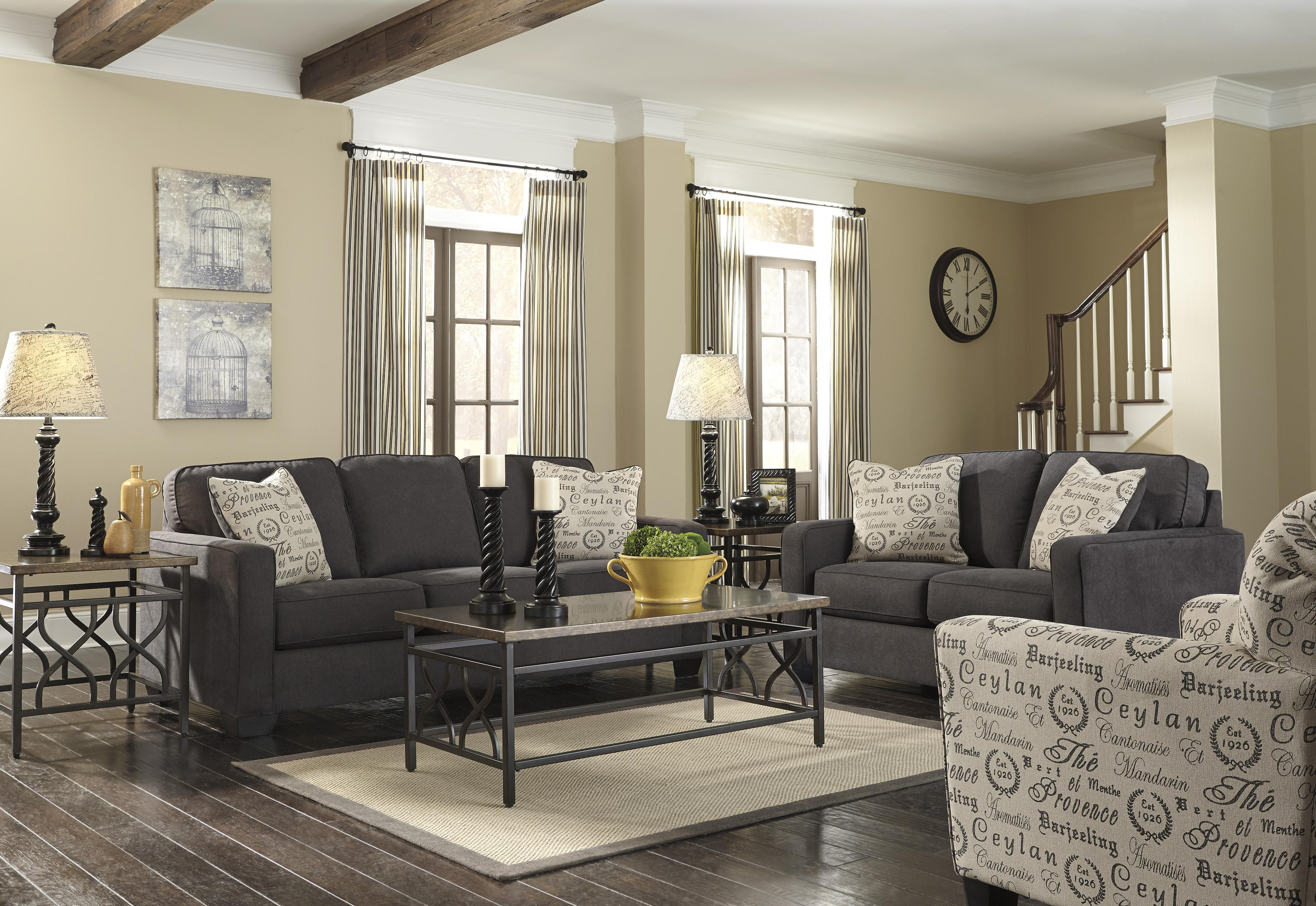 Contemporary Loveseat w/ Track Arms by Signature Design by Ashley : Wolf and Gardiner Wolf Furniture