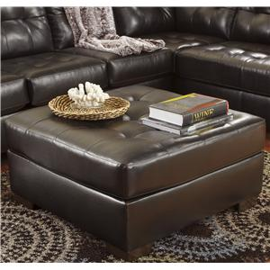 Signature Design by Ashley Alliston DuraBlend® - Chocolate Oversized Accent Ottoman